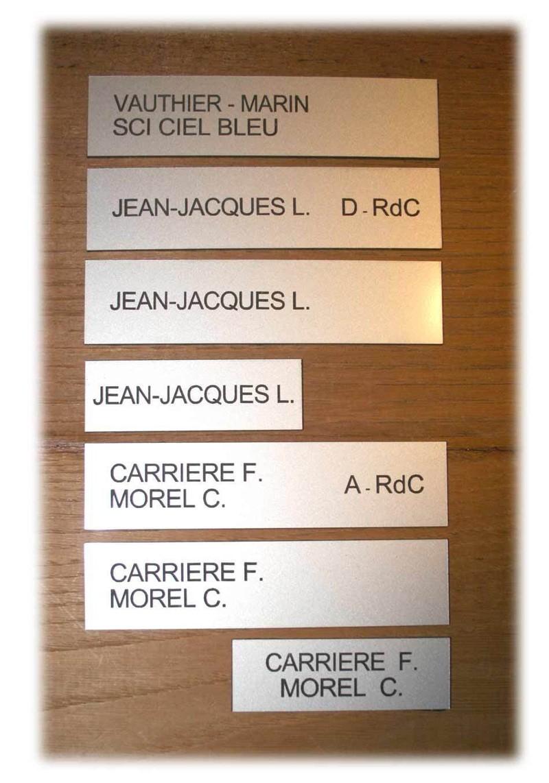 Quelle écriture faut-il choisir pour sa plaque de boîte aux lettres?